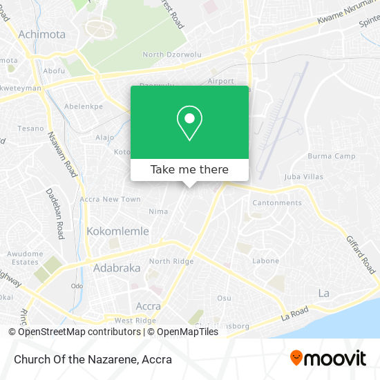 Church Of The Nazarene map