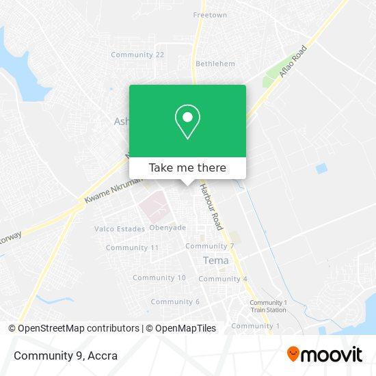 Community 9 map