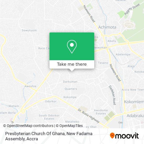 Presbyterian Church Of Ghana, New Fadama Assembly map