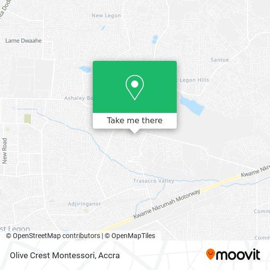 Olive Crest Montessori map