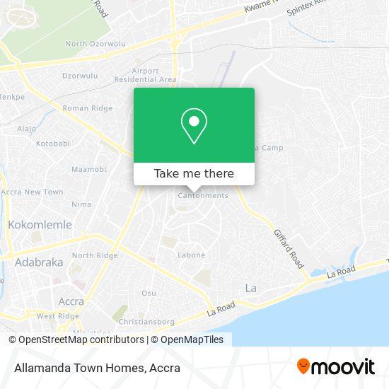 Allamanda Town Homes map