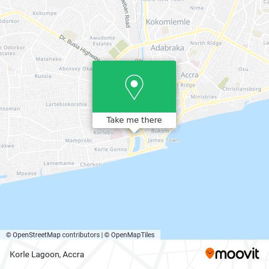 Korle Lagoon map
