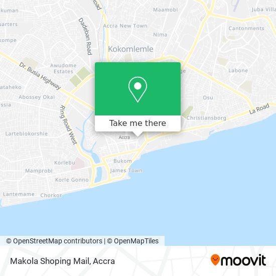 Makola Market map