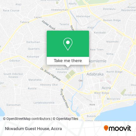 Nkwadum Guest House map