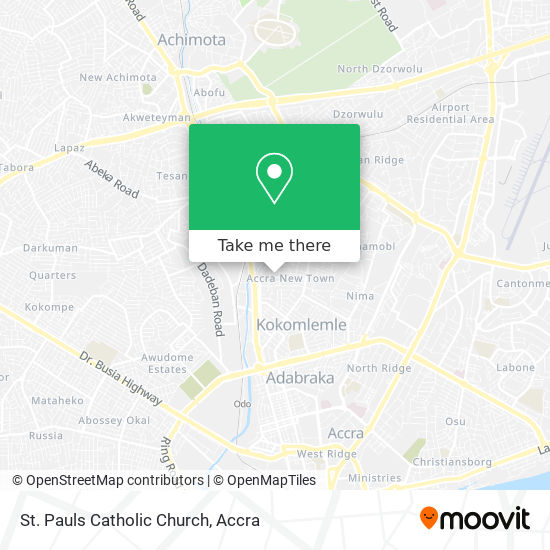 St. Pauls Catholic Church map