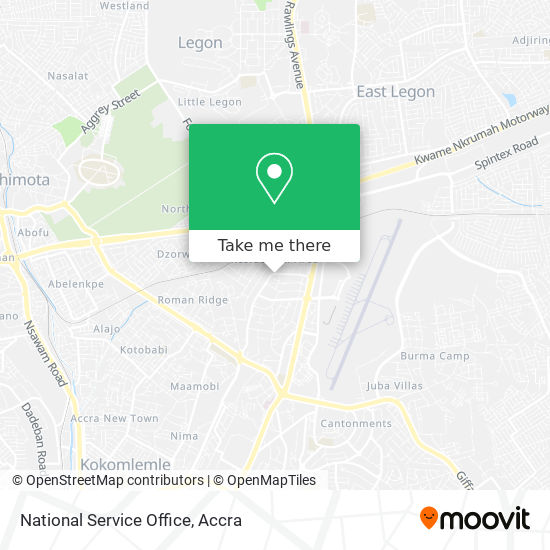 National Service Office map