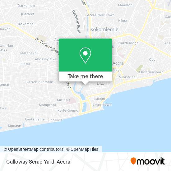 Galloway Scrap Yard map