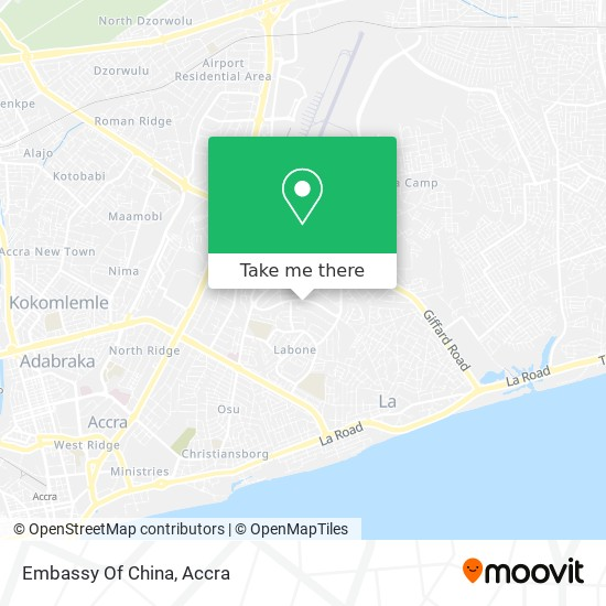 Embassy Of The People's Republic Of China map