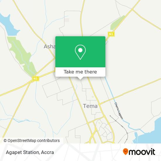 Agapet Station map