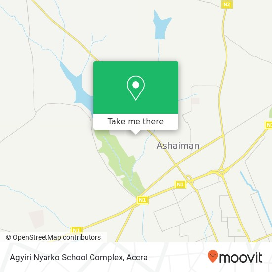 Agyiri Nyarko School Complex map