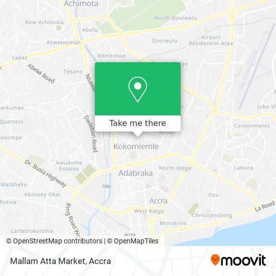 Mallam Atta Market map