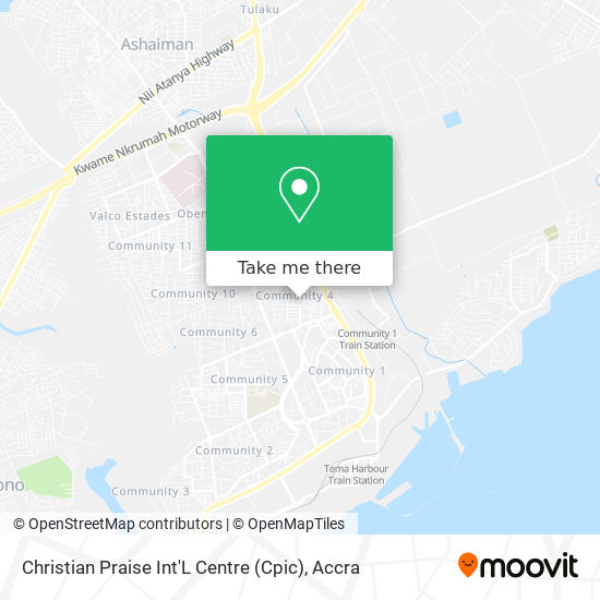 Christian Praise Int'L Centre (Cpic) map