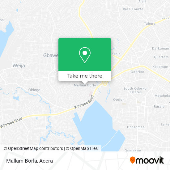 Mallam Borla map
