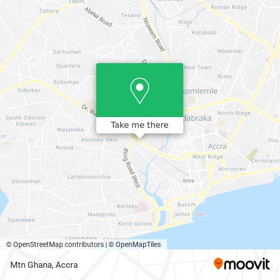 Mtn Ghana map