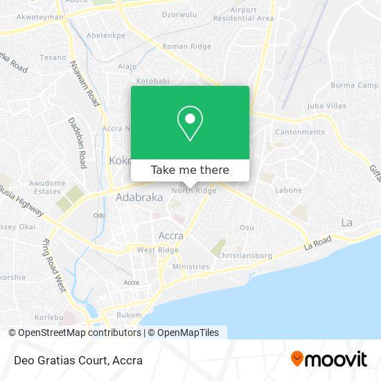 Deo Gratias Court map