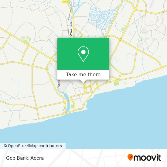 Ghana Commercial Bank map