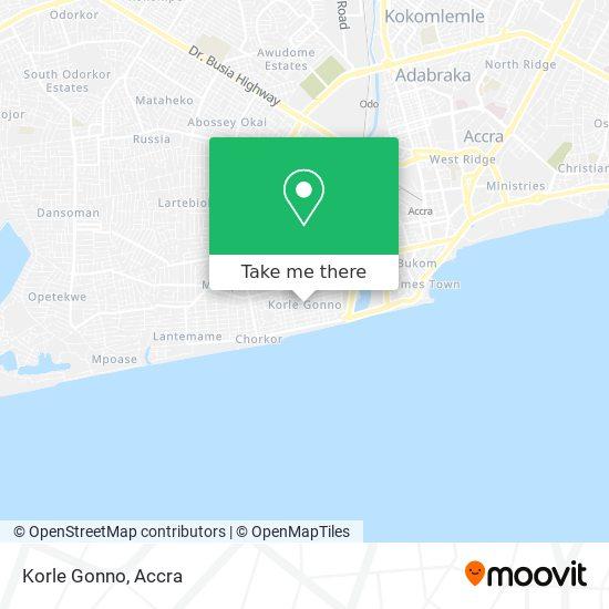 Korle Gonno map