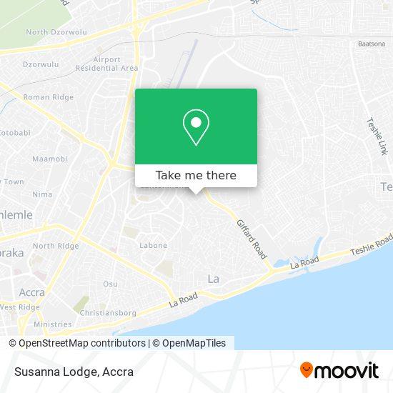 Susanna Lodge map