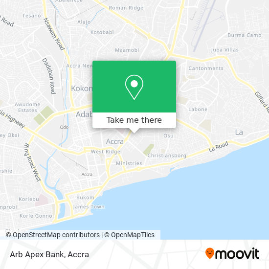 Arb Apex Bank map