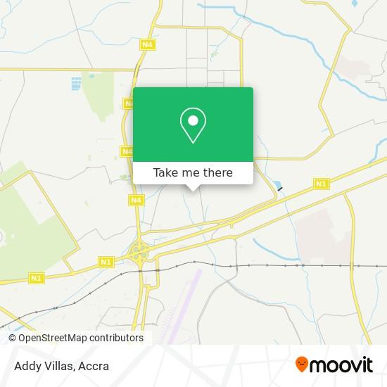 Addy Villas map