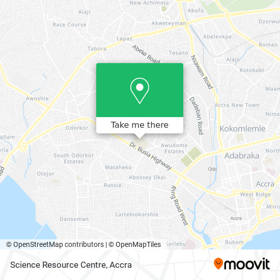 Science Resource Centre map