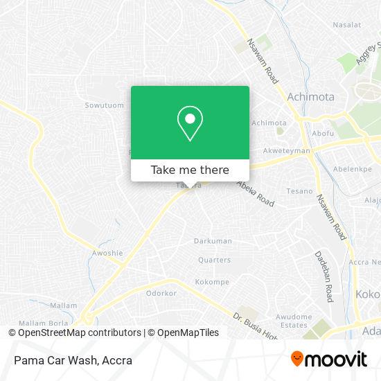 Pama Car Wash map