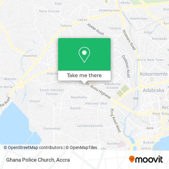Ghana Police Church map