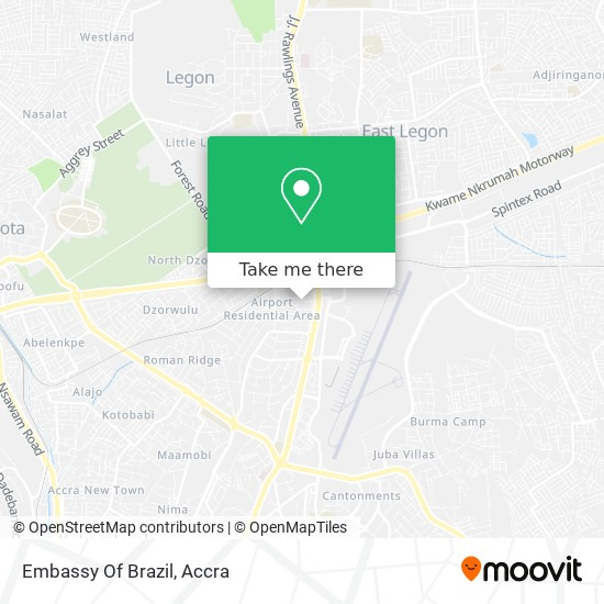 Embassy Of The Federative Republic Of Brazil map