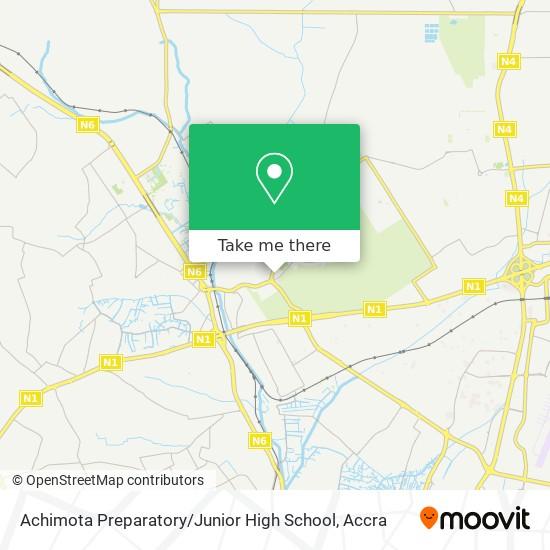 Achimota Preparetory map
