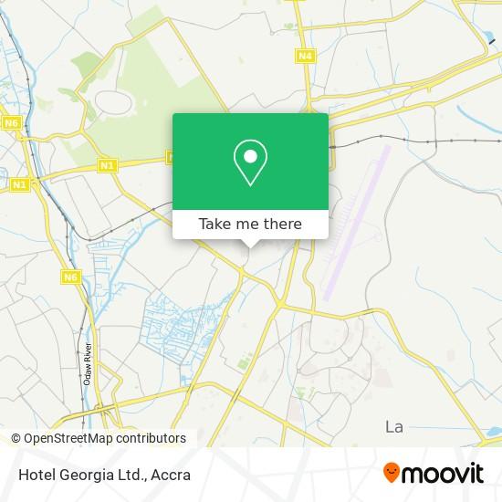 Hotel Georgia Ltd. map