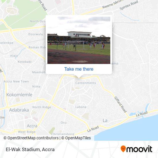 El-Wak Stadium map
