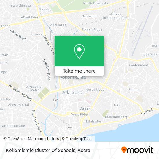 Kokomlemle Cluster Of Schools map