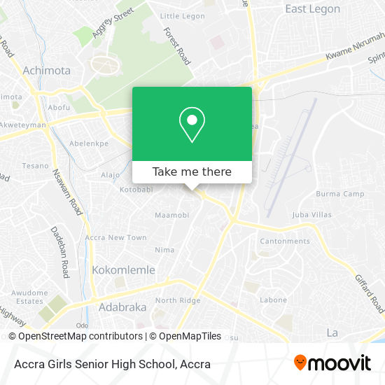 Accra Girls Secondary School map