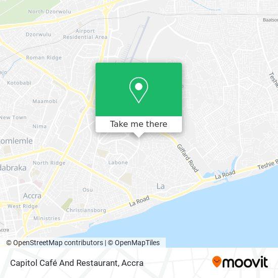 Capitol Café And Restaurant map