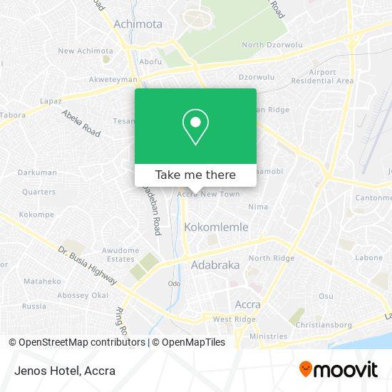Jenos Hotel map