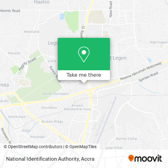 National Identification Authority map