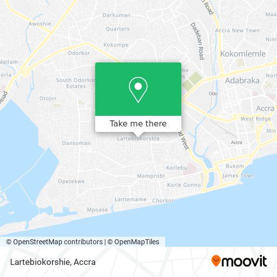 Lartebiokorshie map