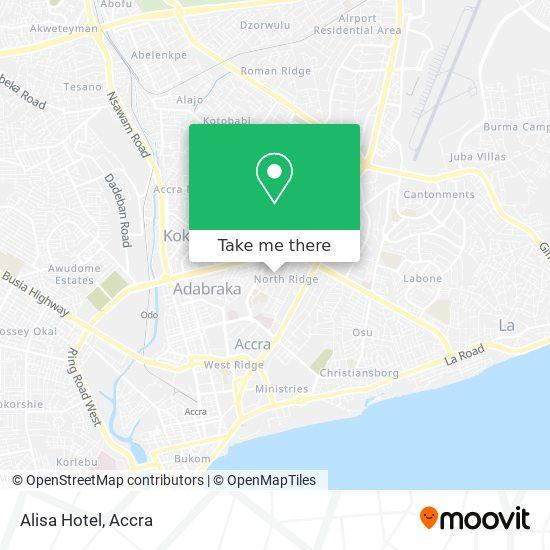 Alisa Hotel map