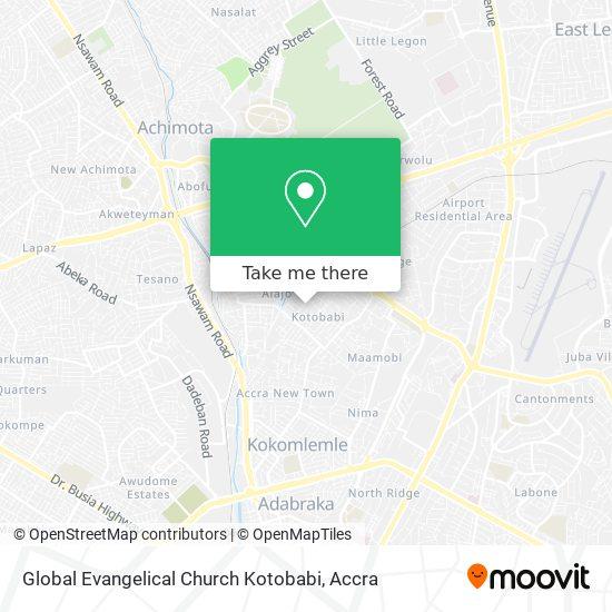 Global Evangelical Church Kotobabi map