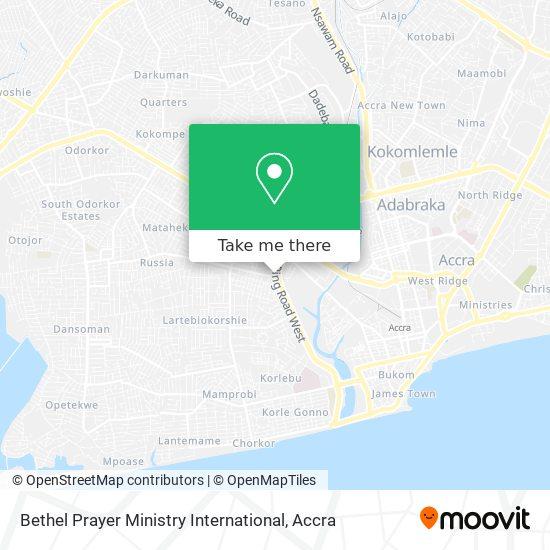 Bethel Prayer Ministry International map