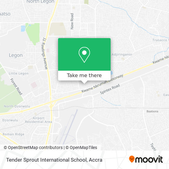 Tender Sprout International School map