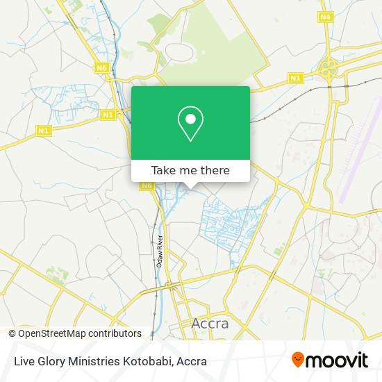 Live Glory Ministries Kotobabi map