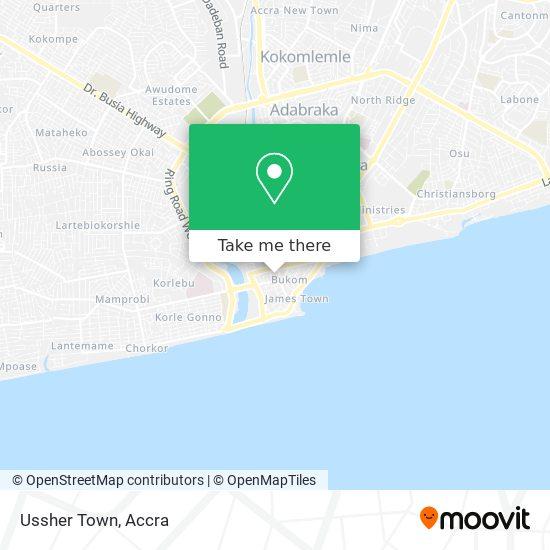 Usher Town map