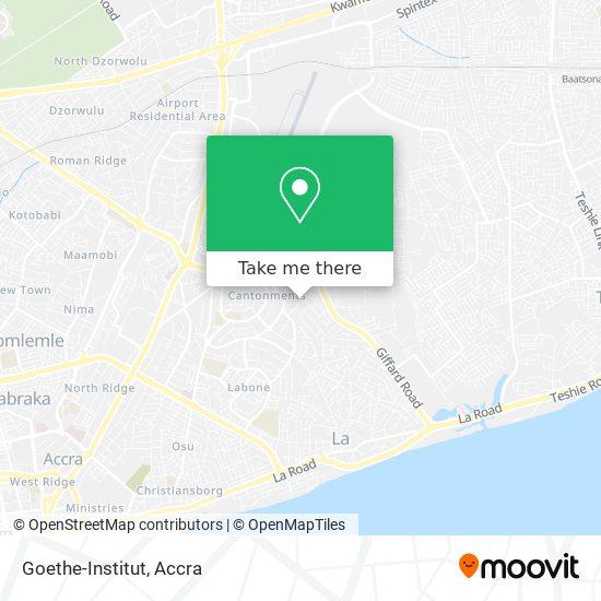 Goethe-Institut map