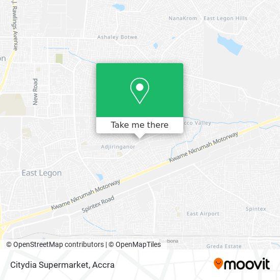 Citydia Supermarket map
