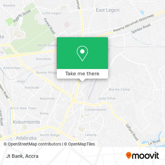 Jt Bank map
