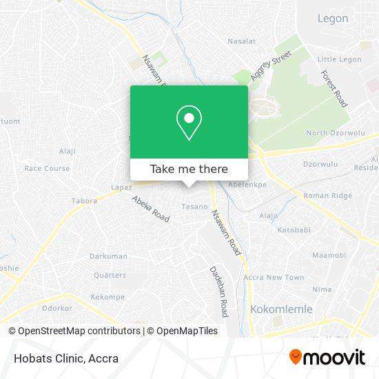 Hobats Clinic map