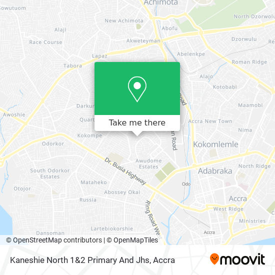 Kaneshie North 1&2 Primary And Jhs map