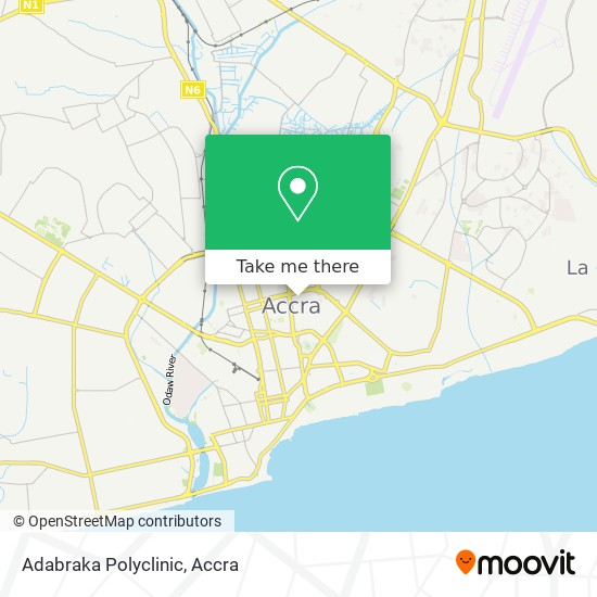 Adabraka Polyclinic map