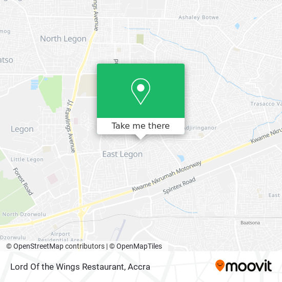 Lord Of The Wings Restaurant map